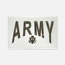 Army & Eagle Rectangle Magnet