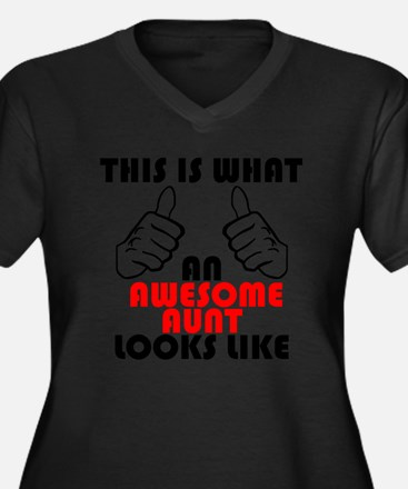 What An Awesome Aunt Looks Like Plus Size T-Shirt