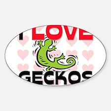 I Love Geckos Oval Decal