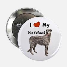 "I Love My Irish Wolfhound 2.25"" Button"