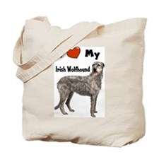 I Love My Irish Wolfhound Tote Bag