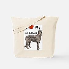 I Love My Irish Wolfhound Tote Bag
