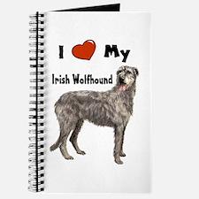 I Love My Irish Wolfhound Journal