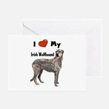 I Love My Irish Wolfhound Greeting Card