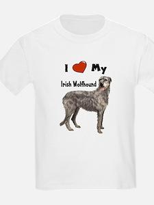 I Love My Irish Wolfhound T-Shirt