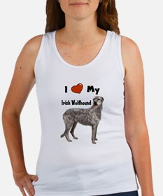 I Love My Irish Wolfhound Women's Tank Top