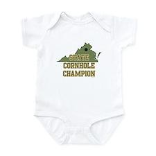 Virginia State Cornhole Champ Infant Bodysuit