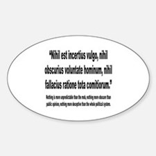 Latin Deceptive Political System Quote Decal