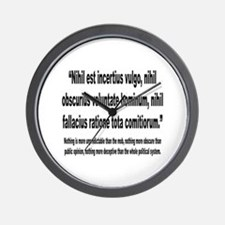 Latin Deceptive Political System Quote Wall Clock