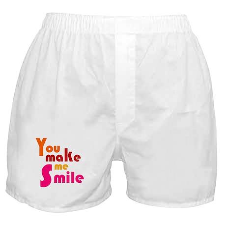 'You Make Me Smile' Boxer Shorts