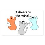 3 SHEETS TO THE WIND Rectangle Sticker