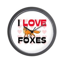 I Love Foxes Wall Clock
