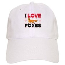I Love Foxes Baseball Cap