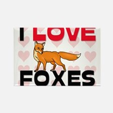 I Love Foxes Rectangle Magnet