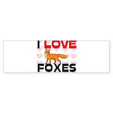 I Love Foxes Bumper Bumper Sticker