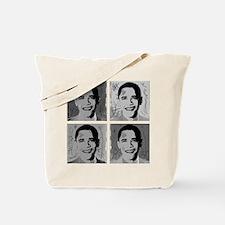 Black & white Obama Tote Bag