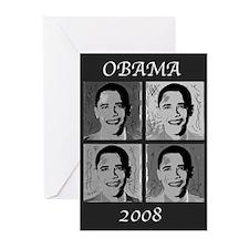 Black & white Obama Greeting Cards (Pk of 20)
