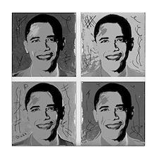 Black & white Obama Tile Coaster