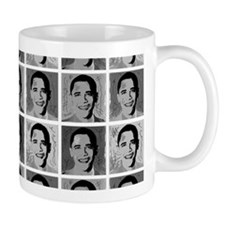 Black & white Obama Mug