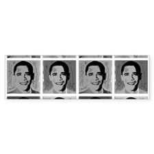 Black & white Obama Bumper Bumper Sticker