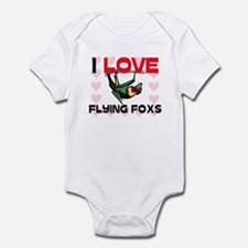 I Love Flying Foxs Infant Bodysuit