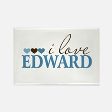 I Love Edward Rectangle Magnet