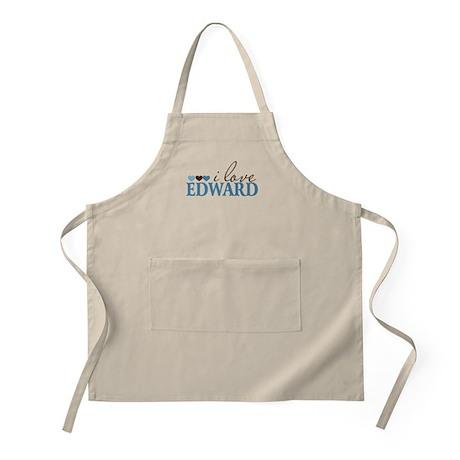 I Love Edward BBQ Apron