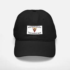 Black Cap - Vet Tech Red Logo
