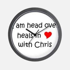 Funny I heart chris Wall Clock