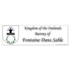 Fontaine Dans Sable Bumper Sticker