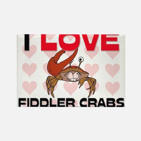I Love Fiddler Crabs Rectangle Magnet