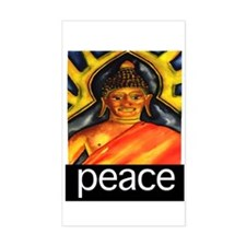 PEACE (Buddha) Rectangle Decal