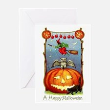 Happy Halloween Witch Greeting Card