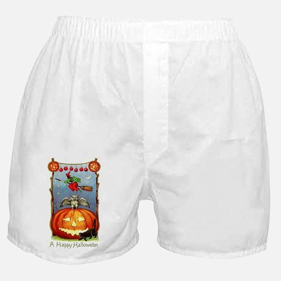 Happy Halloween Witch Boxer Shorts