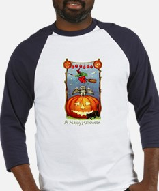 Happy Halloween Witch Baseball Jersey