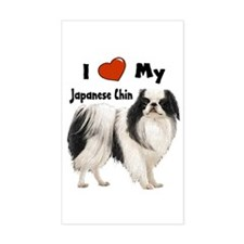 I Love My Japanese Chin Rectangle Decal