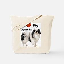 I Love My Japanese Chin Tote Bag