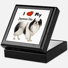 I Love My Japanese Chin Keepsake Box
