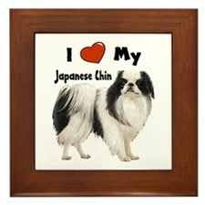 I Love My Japanese Chin Framed Tile