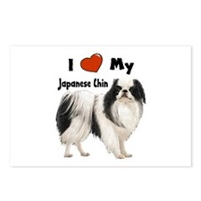 I Love My Japanese Chin Postcards (Package of 8)
