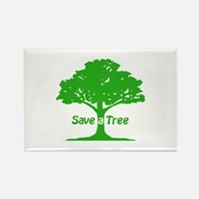 Save a Tree Rectangle Magnet (100 pack)