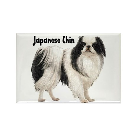 Japanese Chin Rectangle Magnet