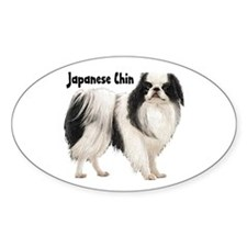 Japanese Chin Oval Decal
