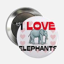 "I Love Elephants 2.25"" Button (10 pack)"