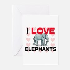 I Love Elephants Greeting Cards (Pk of 10)