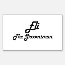 Eli - The Groomsman Rectangle Decal