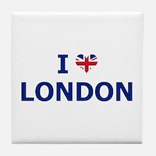 I Love London Tile Coaster