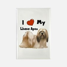 I Love My Lhasa Apso Rectangle Magnet