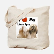 I Love My Lhasa Apso Tote Bag