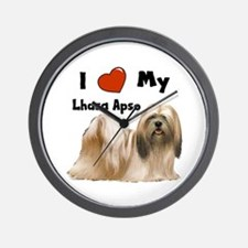 I Love My Lhasa Apso Wall Clock